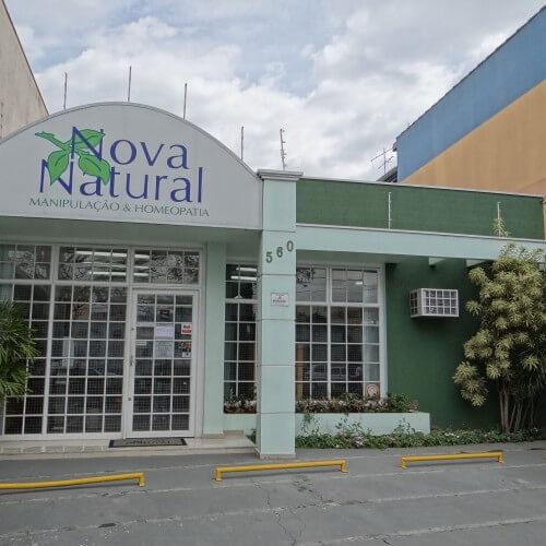 Nova Natural farmácia de manipulação e homeopatia Campinas contato loja fachada